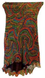 Diane von Furstenberg short dress Gold / Multi Color Silk Dvf Mini on Tradesy