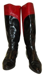 Gucci Red & Black Boots