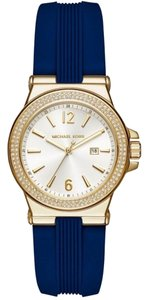 Michael Kors Michael Kors MK2490 Women's Mini Dylan Sporty Navy Blue Silicone Gold tone Watch NEW! $195