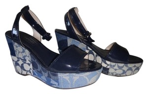Coach Denim Sandal Denim/navy/white Wedges