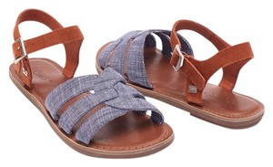 TOMS Zoe Sandal Chambray Suede Sandals