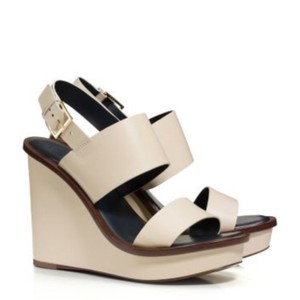 Tory Burch Pump Sandals white brown ivory Wedges