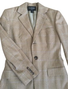 Ralph Lauren Jacket Houndstooth Cream and Brown Blazer