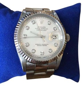 Rolex ROLEX Unisex Datejust Oyster Perpetual 18kt Gold & Stainless Diamond Dial Watch