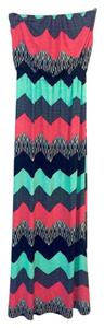 Multi Maxi Dress by Trixxi Maxi Chevron