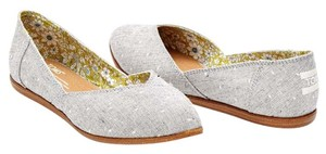 TOMS Grey Dot Flats