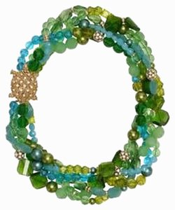 Kate Spade Designed for the Beach-Side Bride Kate Spade Sea Glass Torsade Necklace Gold & Crystal Sea Turtle Clasp