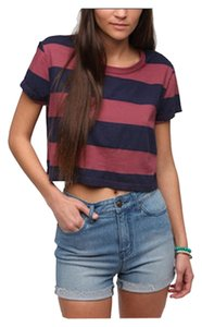 Truly Madly Deeply Urban Outfitters Stripe T Shirt red and blue