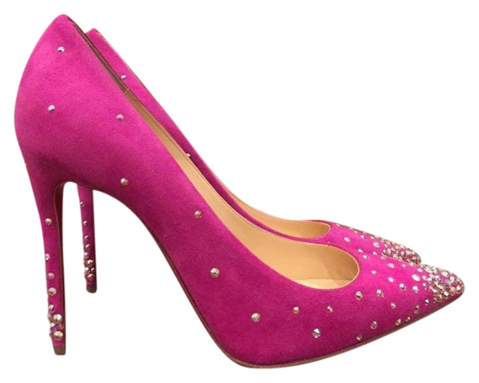 7afa5ffceea7 Christian Louboutin Degrastrass Strass Indian Rose Stiletto pink Pumps  Image 0 ...
