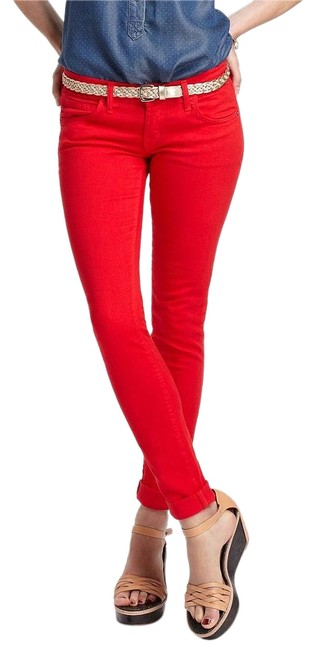 Item - Caution Red Coated The Rolled Skinny Jeans Size 24 (0, XS)