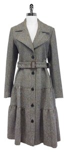 Burberry Burberry Tweed Flare Skirt Coat