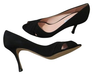 Isaac Mizrahi Heels Open Toe Black Pumps
