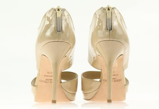 Jimmy Choo Patent Leather Nude Stiletto Beige Pumps Image 1