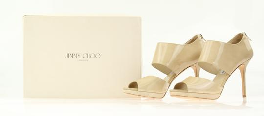 Jimmy Choo Patent Leather Nude Stiletto Beige Pumps Image 10