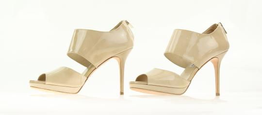 Jimmy Choo Patent Leather Nude Stiletto Beige Pumps Image 2