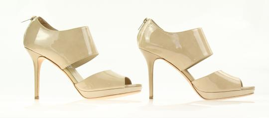 Jimmy Choo Patent Leather Nude Stiletto Beige Pumps Image 3