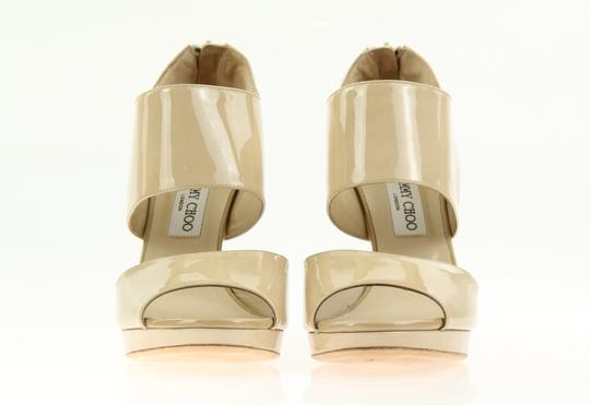Jimmy Choo Patent Leather Nude Stiletto Beige Pumps Image 4