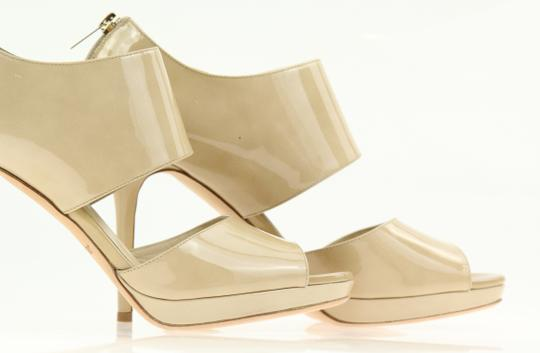 Jimmy Choo Patent Leather Nude Stiletto Beige Pumps Image 5