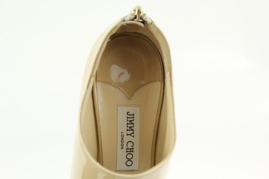Jimmy Choo Patent Leather Nude Stiletto Beige Pumps Image 6