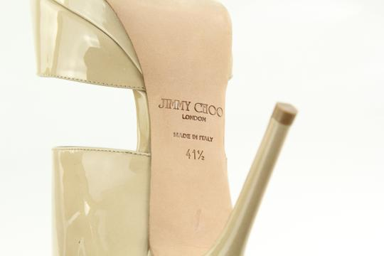 Jimmy Choo Patent Leather Nude Stiletto Beige Pumps Image 7