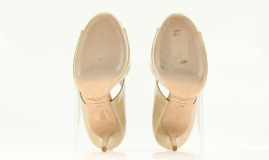 Jimmy Choo Patent Leather Nude Stiletto Beige Pumps Image 8