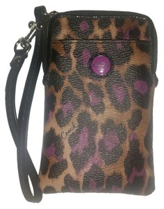 Coach Wristlet in Leopard and Purple