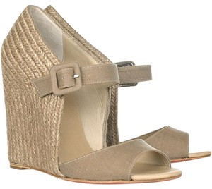 Christian Louboutin Taupe Wedges