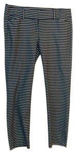 Ann Taylor LOFT Capri/Cropped Pants Blue/White stripes