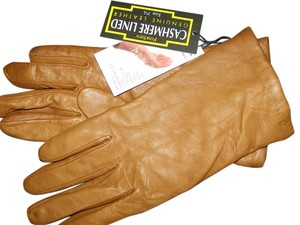 Fownes Tan Budda Leather Cashmere Lined Gloves