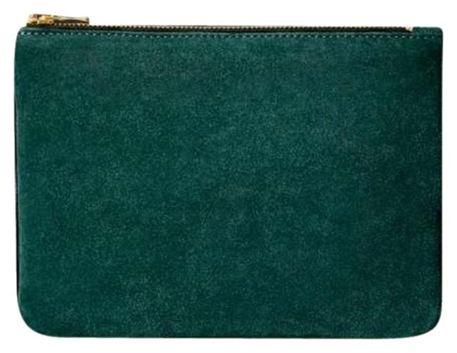 Item - Small And Green Leather/Suede Clutch