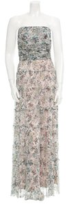 L'AGENCE Silk Floral Maxi Ruffle Dress