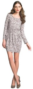 Rebecca Taylor short dress Mauve Leopard Ombre Longsleeve on Tradesy