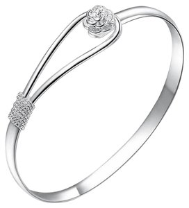 New Romatic Silver Bangle Bracelet Women Girl Charm Bangle Bracelet