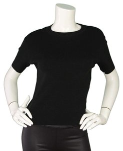 Chanel Crew Neck T Shirt black
