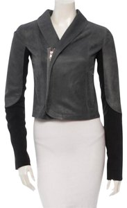 VEDA Leather Asymmetrical Motorcycle Jacket