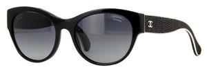 Chanel CHANEL Stingray Leather 'Galuchat' Polarized Sunglasses CH5273Q (Black)