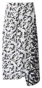 Tibi Wrap Jacquard Print Skirt White, Black