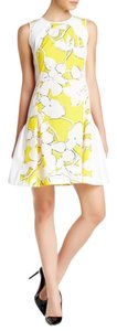 Diane von Furstenberg short dress Yellow /white on Tradesy