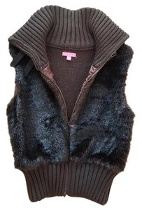 Other Faux Fur Buckle Vest