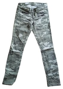 Gap Brass Zipper Skinny Pants Camouflage