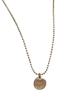 ALDO Gold Chain Necklace with Small Round Pendant