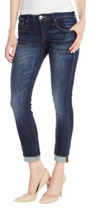True Religion Covd Liv Dark Wash Boyfriend Cut Jeans-Dark Rinse