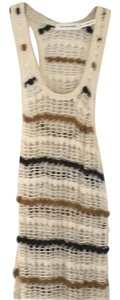 Isabel Marant short dress Cream with black and brown stripes on Tradesy