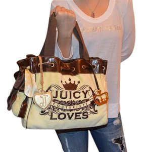 Juicy Couture Terry Tote in Pastel Yellow
