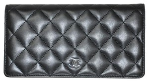 Chanel Chanel Black Leather Porte Yen Long Wallet