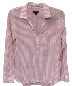 J.Crew Button Down Shirt Pink and white stripe
