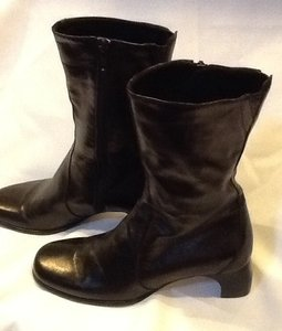 Cole Haan Leather Italian Black Boots