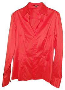 Hugo Boss Comfort Stretch Button Down Shirt Orange