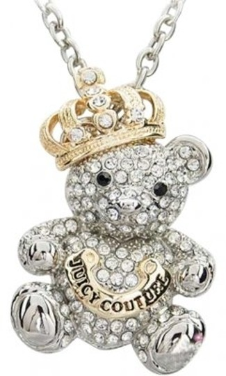 Preload https://item1.tradesy.com/images/juicy-couture-silvertone-and-goldtone-sparkle-teddy-bear-necklace-178030-0-0.jpg?width=440&height=440