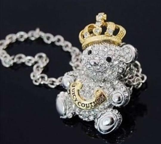 Juicy Couture Juicy Couture Sparkle Teddy Bear Necklace